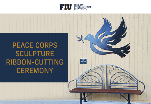 Peace Corps Sculpture Ribbon-Cutting Ceremony